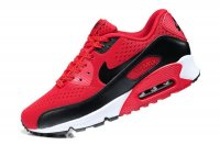 Womens Nike Air Max 90 Premium EM Gym Red/Black/White