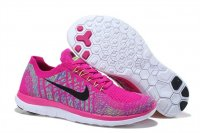 Womens Nike Free 4.0 Flyknit Black Cherry
