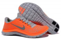 Womens Nike Free 3.0 V4 Orange Grey