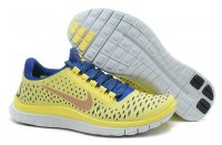 Womens Nike Free 3.0 V4 Blue Yellow