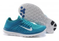 Womens Nike Free 4.0 Flyknit Blue White