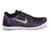 Womens Nike Free 4.0 Flyknit Black Purple