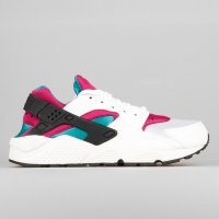 Nike Wmns Air Huarache Run White Radiant Emerald Fuchsia