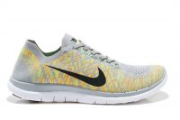 Mens Nike Free 4.0 Flyknit Grey Yellow