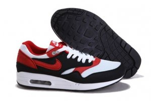 Mens Air Max 87 White Black Red