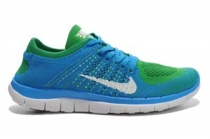 Mens Nike Free 4.0 Flyknit Blue Green