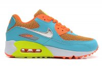 Womens Nike Air Max 90 Premium Blue Orange White
