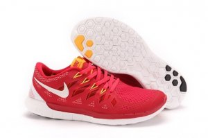 Mens Nike Free 5.0 White Red