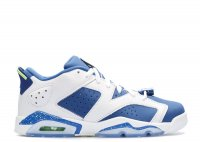 "air jordan 6 retro low bg (gs) ""seahawks"""