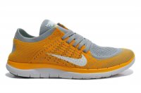 Mens Nike Free 4.0 Flyknit Grey Orange