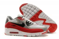 Womens Air Max 90 Breathe White/Black/Wolf Grey/Red
