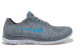 Mens Nike Free 4.0 Flyknit Grey Blue