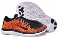 Womens Nike Free 4.0 Flyknit Orange Black