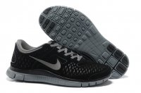 Mens Nike Free 4.0 Fur Black Grey