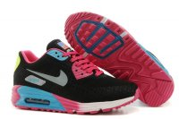 Womens Air Max 90 Hyperfuse Premium Black/Pink/Silver