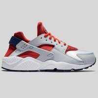 Nike Wmns Air Huarache Run Pure Plaiunum Bright Crimson