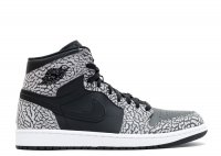 "air jordan 1 retro high ""black elephant print"""