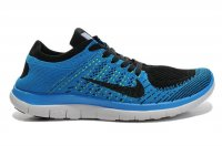 Mens Nike Free 4.0 Flyknit Blue Black