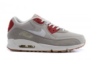Men&Womens Nike Air Max 90 Leather Grey