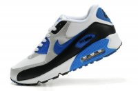Mens Nike Air Max 90 White/Silver/Black/Blue