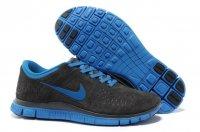 Mens Nike Free 4.0 Fur Black Blue