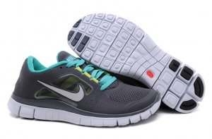 Womens Nike Free Run+ 3 Grey Green