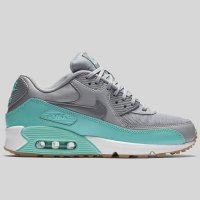 Nike Wmns Air Max 90 Essential Wolf Grey Stealth Hyper Turquoise