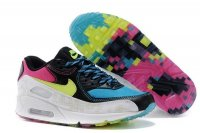 Womens Air Max 90 Blue/Black/White/Volt
