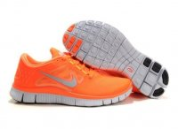 Womens Nike Free Run+ 3 Orange Silver
