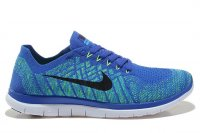 Mens Nike Free 4.0 Flyknit Royal Blue Green