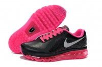 Womens Nike Air Max 2014 Black Pink Leather