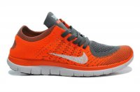 Womens Nike Free 4.0 Flyknit Grey Orange