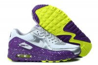 Womens Air Max 90 Splatter Pack Wolf Grey/Bright Grape/Venom Gre