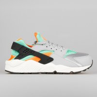 Nike Wmns Air Huarache Run Wolf Grey Green Glow Orange