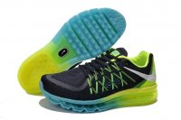 Mens Air Max 2015 Black Green Blue