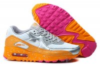 Womens Air Max 90 Splatter Pack White/Metallic Silver/Orange