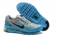 Mens Air Max 2013 Silver Blue