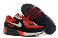 Womens Air Max 90 Hyperfuse Premium Black/Red/White