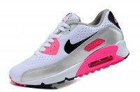 Womens Nike Air Max 90 Premium EM White/Black/Silver Pink