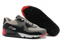 Womens Air Max 90 Grey/Black/White/Red