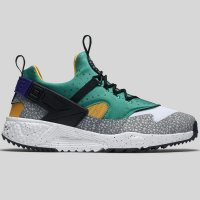 Nike Air Huarache Utility PRM White Black Emerald Green