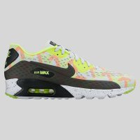 Nike Air Max 90 Ultra BR Print Pure Platinum Black Volt Total Or