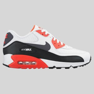Nike Air Max 90 Essential White Dark Grey Bright Crimson