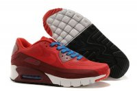 Mens Air Max 90 Breathe Red/Crimson/White