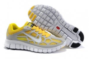 Womens Nike Free Run+ 3 Grey Yellow