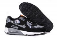 Womens Air Max 90 Black/Camo Grey/Metallic Silver