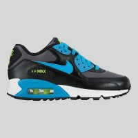 Nike Air Max 90 Mesh (GS) Black Blue Lagoon Dark Grey