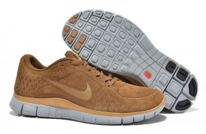 Mens Nike Free 5.0 Wool Skin Brown Grey