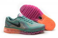 Womens Nike Air Max 2014 Green Orange