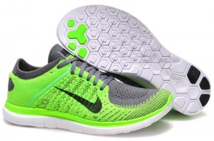 Mens Nike Free 4.0 Flyknit Lemon Grey